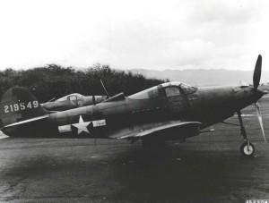 """Bell P-39 Airacobra """"Tarawa Boom Deay"""" at Hickam, 1940s."""
