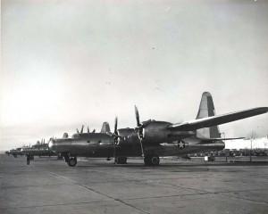 Convair B-32 Dominator stationed at Hickam Field, 1940s.