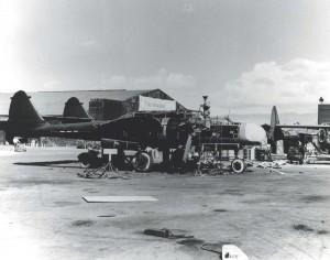 Maintenance of Northrup P-61 Black Widows at the Hawaiian Air Depot, Hickam Field, April 19, 1944.