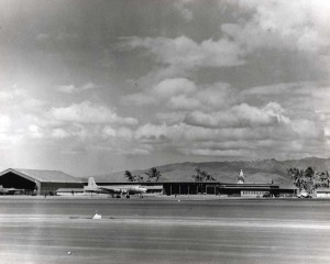 New Airport Transport Command Terminal constructed at Hickam Field at a cost of $152,095 in 1945.
