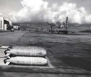 Practice bombs at Hickam Field.