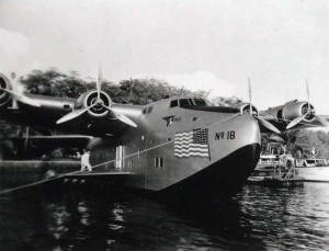 Pan American China Clipper at Keehi Seadrome, Honolulu Airport, 1946.