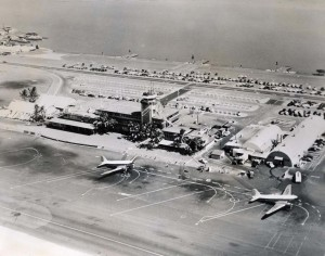 Honolulu Airport, 1947. Seadrome is at top of photo.