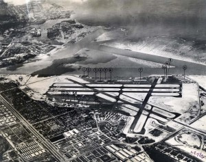Honolulu Airport, August 1948. Dredged sealanes are in background.