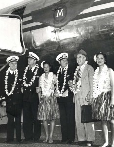 Matson Airlines at Honolulu Airport, 1940s.