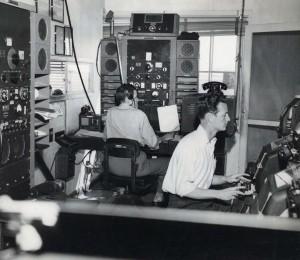 Hawaiian Airlines radio room, March 1949.