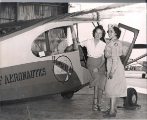 Flying school at John Rodgers Airport, 1940s.