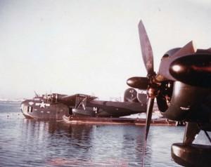 PB2Y-3s at John Rogers Airport Seaplane Port, February 1945.