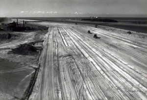 Constructing Barking Sands Air Base, c1944-1945 with B-24 aircraft.