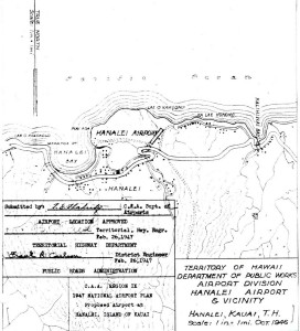 CAA Region IX 1947 National Airport Plan, Proposed airport at Hanalei, Kauai, February 26, 1947.