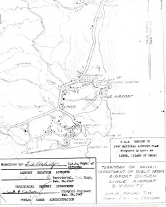 CAA Region IX, 1947 National Airport Plan, Proposed airport at Lihue, Kauai, February 26, 1947.