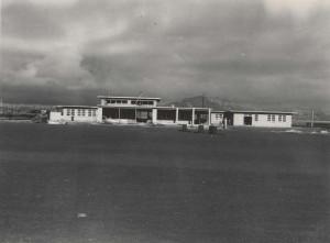 Construction of Lihue Airport Terminal, Kauai, December 14, 1949.