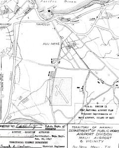 CAA Region IX, 1947 National Airport Plan, Proposed improvements to Maui Airport at Puunene, Maui, February 26, 1947.