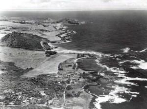 Hana Airport, Maui, looking north, 1948.
