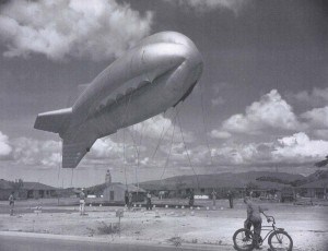 Barrage Balloon at Fort Kamehameha during World War II.