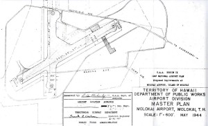 CAA Region IX 1947 National Airport Plan, Proposed improvements to Molokai Airport, February 26, 1947.