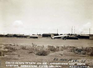 Operations and radio station, Homestead Field, Molokai, July 31, 1948.
