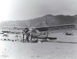O-49 aircraft at Bellows Field, 1941.