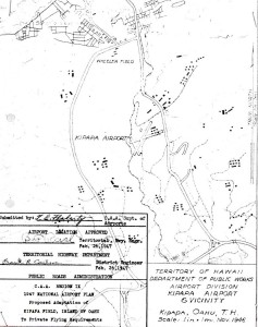 CAA Region IX 1947 National Airport Plan, Proposed Adaptation of Kipapa Field to private flying requirements, February 26, 1947.