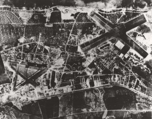Marine Corps Air Station Ewa (left) and Naval Air Station Barbers Point, right, September 1944.