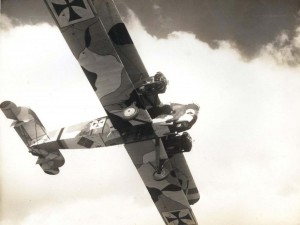 US Army Air Corps Keystone bomber painted in camouflage (perhaps for a movie)