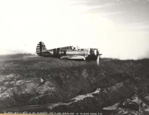 Wheeler Field's P-36A fly over Oahu February 8, 1940.