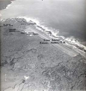 Kona Airport, Kailua, Hawaii, April 22, 1955.
