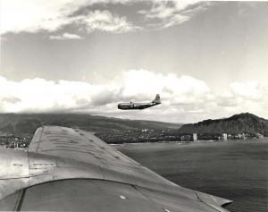 Curtiss C-97 at Hickam Air Force Base, 1950s.