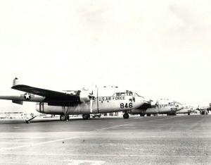 C-119 aircraft at Hickam Field, 1958-1961.
