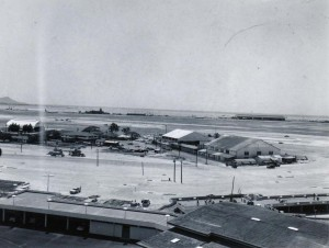 Construction of new terminal on North Ramp, Honolulu International Airport, March 1, 1959.