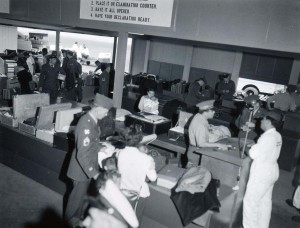 U.S. Customs Service, Honolulu International Airport, 1950s.