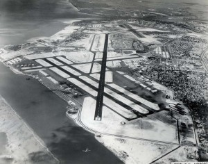 Honolulu International Airport runways, 1959.