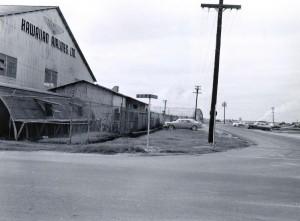 Hawaiian Airlines hangar at Honolulu International Airport, 1959.