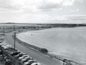 Cleared land for construction of new terminal on North Ramp, Honolulu International Airport, March 1, 1959.