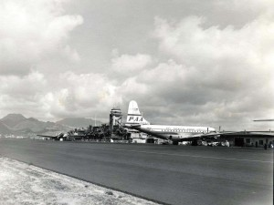 Pan American Airways at Honolulu International Airport, 1950s.