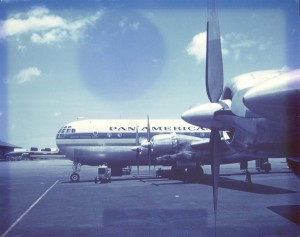 Pan American Airways at Honolulu International Airport, 1955.