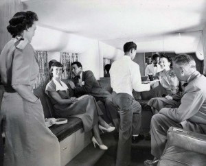 United Airlines Mainliner at Honolulu International Airport 1950s