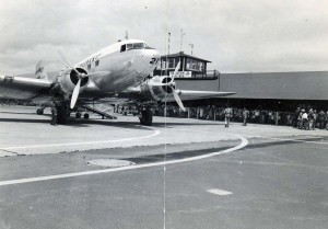 Opening day of new Kahului Airport, June 24, 1952.