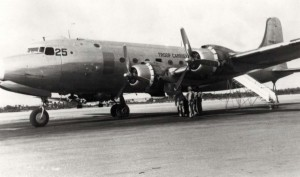 One of 12 C-54s that replaced the C-46s at Hickam Air Force Base, Hawaii, 1960s.