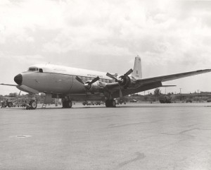 C-118 Liftmaster at Hickam Air Force Base, Hawaii, 1960s.