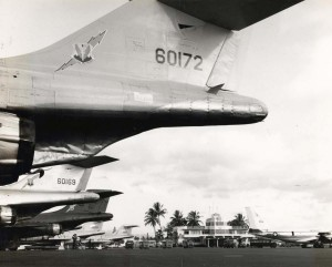 F-100s at Hickam Air Force Base, Hawaii, 1960s.