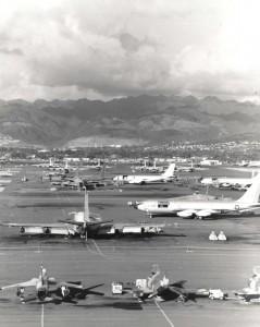 KC-135, F-105, and F-4 at Hickam Air Force Base, Hawaii, 1960s.