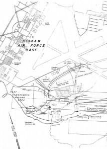 Hickam Air Force Base, Hawaii, Map, 1963.
