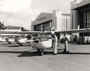 Cessna O-2A aircraft at Hickam Air Force Base, 1967.