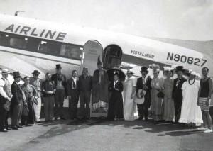 Aloha Airlines at Honolulu International Airport 1960s.