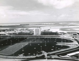 Architect's drawing of new Honolulu International Airport, 1960.