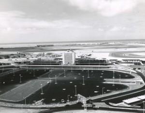 Architect's drawing of new Honolulu International Airport, 1960.