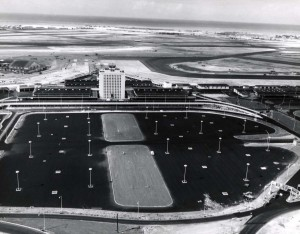 Artist's drawing of new Honolulu International Airport, 1960.