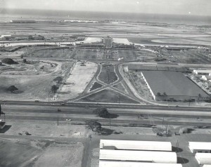 Honolulu International Airport Terminal and ramp area, 1964.