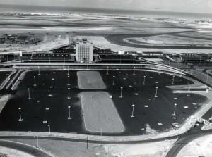 Construction progress at the new Honolulu International Airport, June 1, 1962.